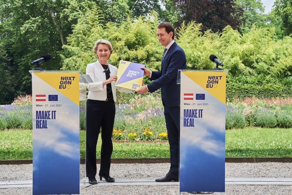 Besuch EU-Kommissionspräsidentin von der Leyen, Wien, 21.6.2021
